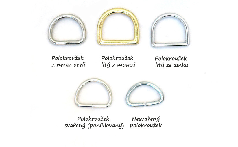 Galanterní kroužky a polokroužky