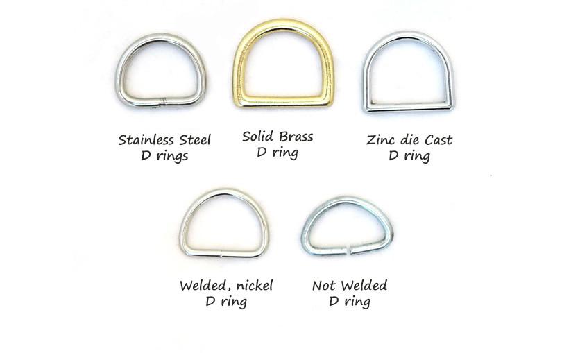 Haberdashery rings and D rings