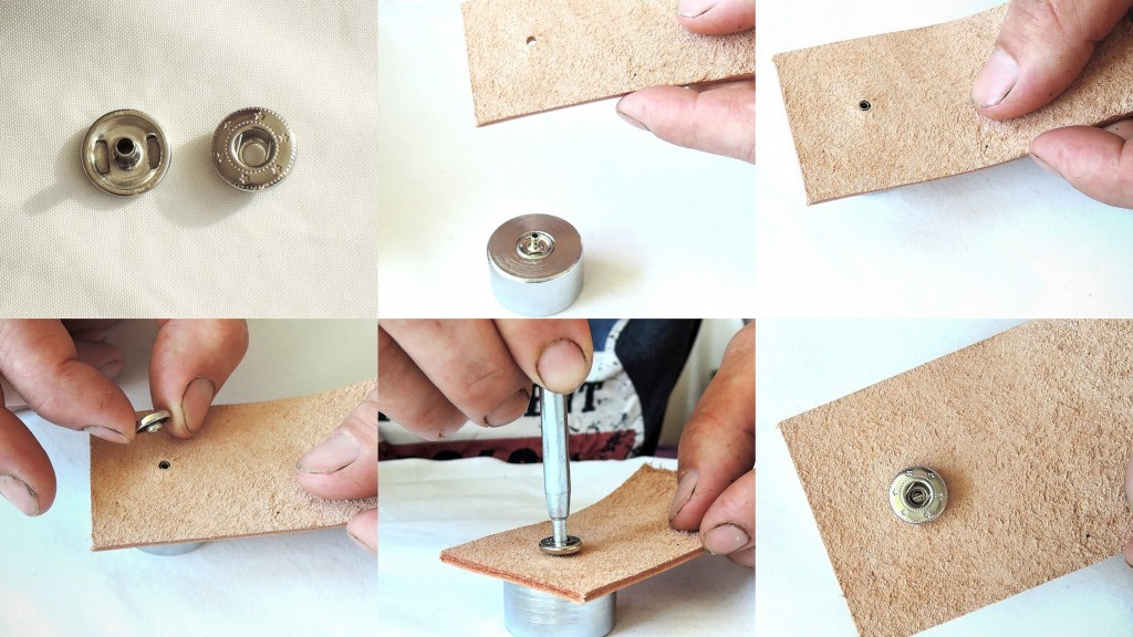 How to rivet snap fasteners (snap buttons)