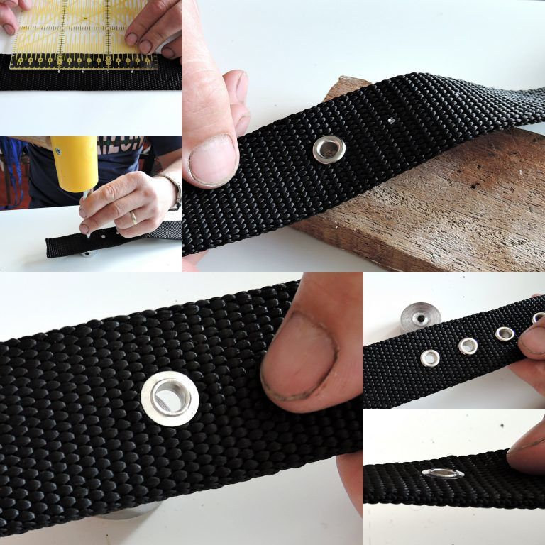 Perforation of holes and the application of eyelets